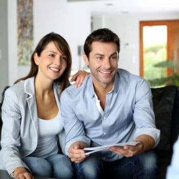 couple offering feedback in business deal